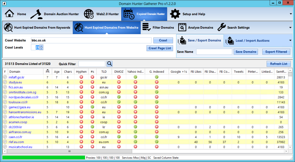 Domain Hunter Gatherer Pro 1.7.49.0